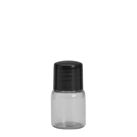3ml Clear Vial & 13mm Black Wad Cap