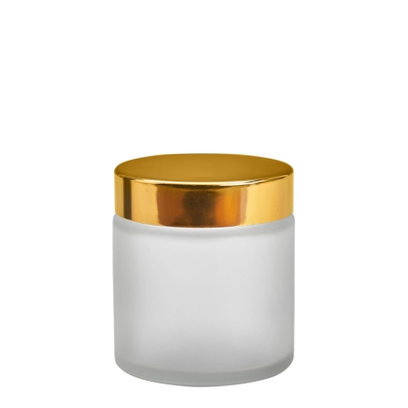 120g Frosted Cos Pot & 58mm Gold Wad Cap