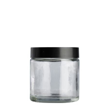 120g Clear Cos Pot & 58mm Shiny Black Wad Cap