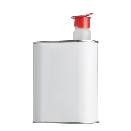 1 Litre Metal Can & Red Pourer Cap
