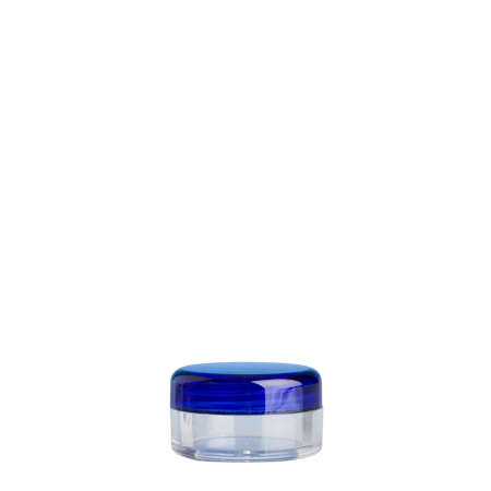 5g Clear Plastic Cos Pot & Blue Lid