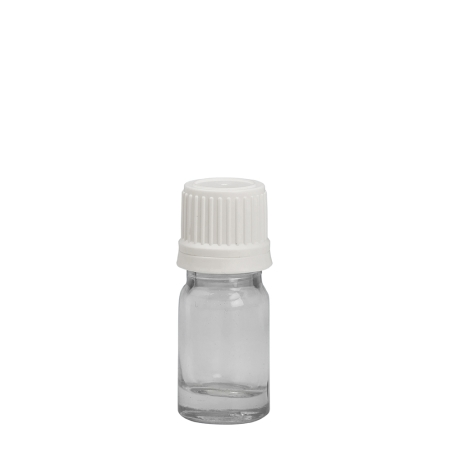 5ml Clear Drip Btl & 18mm White T/T