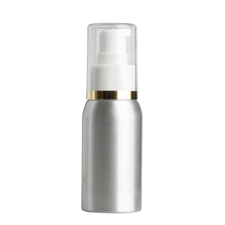 50ml Aluminium Btl & 24mm White/Gold Band Cos Lotion