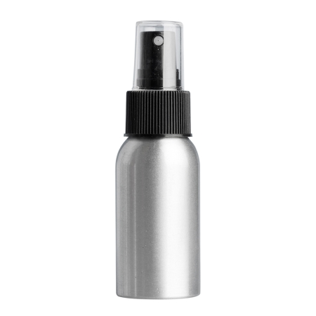 50ml Aluminium Btl & 24mm Black Ribbed Mist