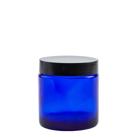 100g Blue Cos Pot & 58mm Matt Black Wad Cap