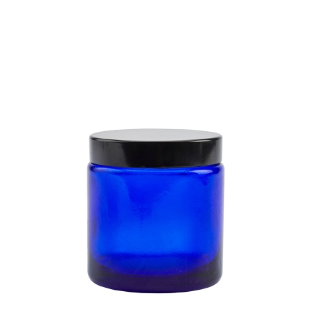 100g Blue Cos Pot & 58mm Shiny Black Wad Cap
