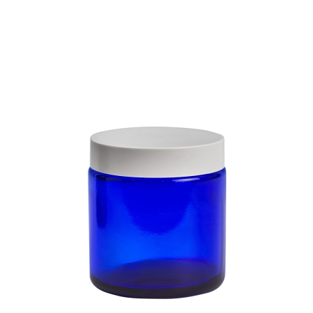 100g Blue Cos Pot & 58mm White Wad Cap