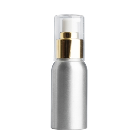 50ml Aluminium Btl & 24mm Gold Cos Lotion