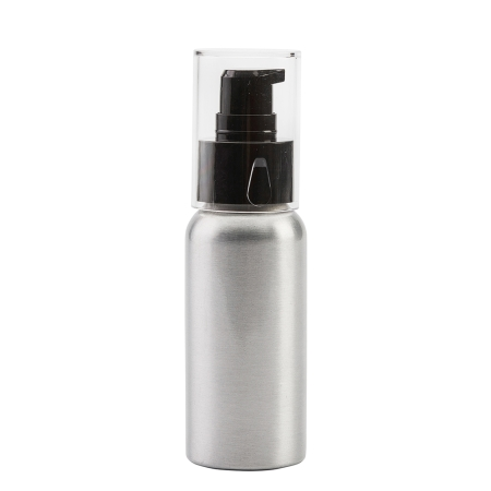 50ml Aluminium Btl & 24mm Black Cos Lotion