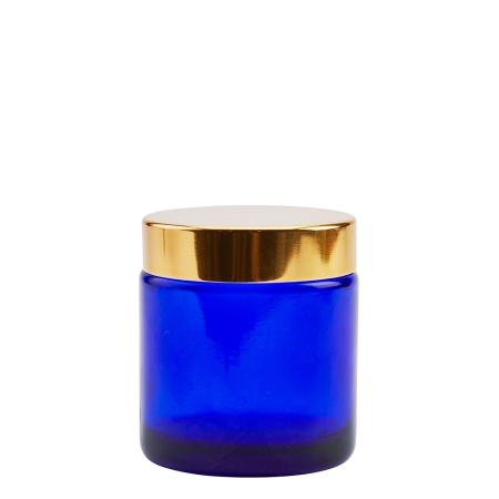 100g Blue Cos Pot & 58mm Gold Wad Cap