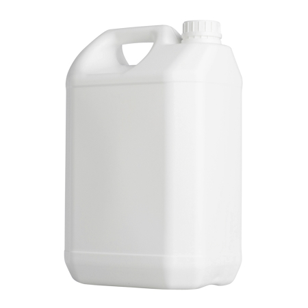 5 Litre White Plastic Jerrycan & 38mm White Jerry T/T cap