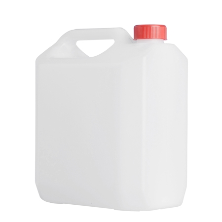 4 Litre Natural Plastic Jerrycan & 38mm Red Screw