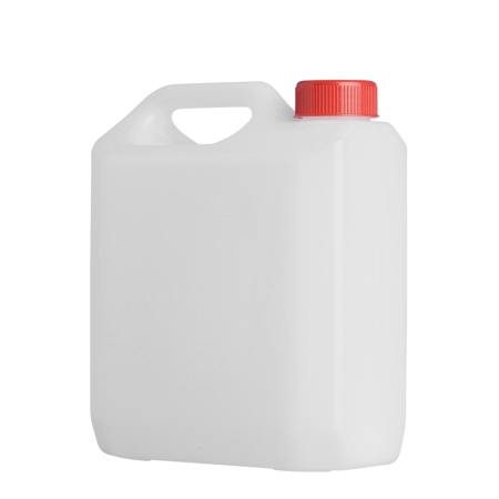 2 Litre Natural Plastic Jerry Can & 38mm Red Screw