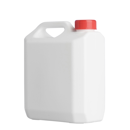 2 Litre White Plastic Jerrycan & 38mm Red Screw