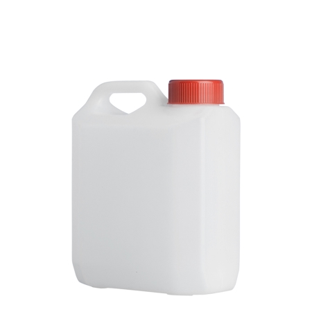 1 Litre Natural Plastic Jerrycan & 38mm Red Screw