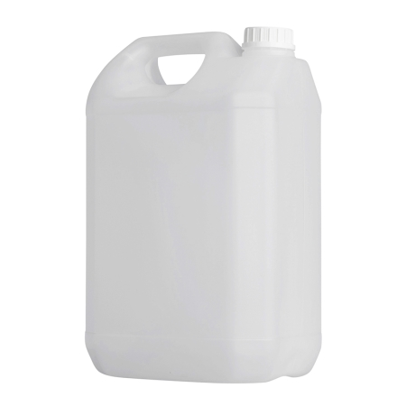 5 Litre Natural Plastic Jerrycan &  38mm White Jerry T/T cap