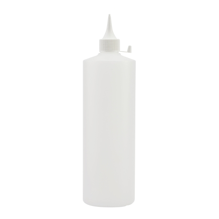1 Litre Natural Flexicon Btl & 28mm White Prem Spout Cap