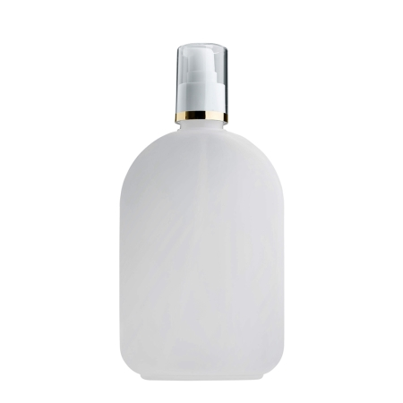 375ml Natural Flask & 24mm White/Gold Band Cos Lotion