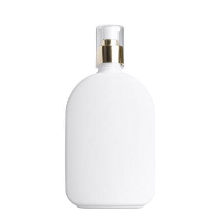 375ml White Flask & 24mm Gold Cos Lotion