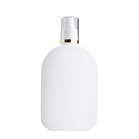 375ml White Flask & 24mm White/Gold Band Cos Lotion