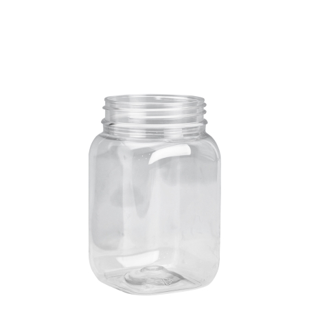 400ml Clear Nexus Square Jar Unfitted (63mm)