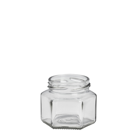 105ml Hex Jar Unfitted (53mm)