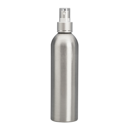 250ml Aluminium Btl &24mm BA/White/Silver Cos Mist