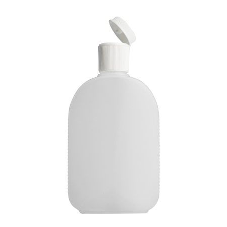 250ml Natural Flask & 24mm White Flip Top