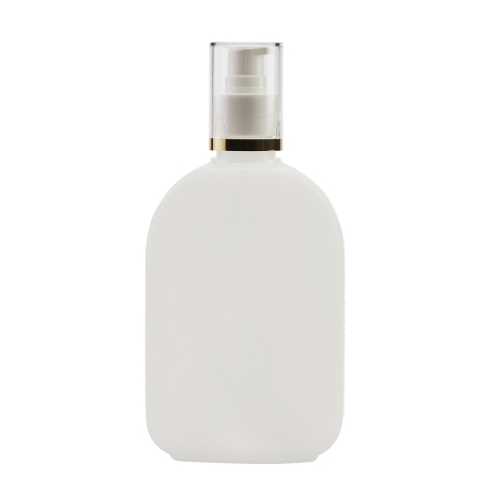 250ml Natural Flask & 24mm White/Gold Band Cos Lotion