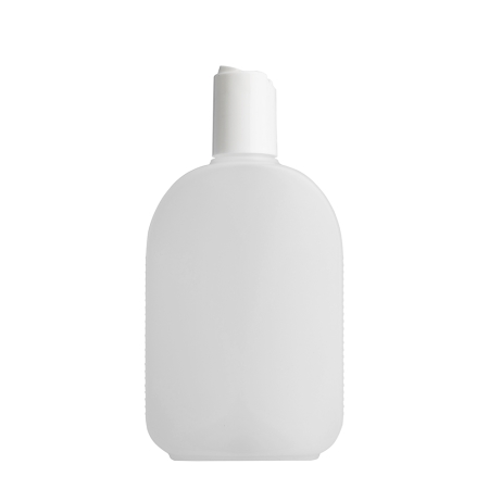 250ml Natural Flask & 24mm White Deep Disc Cap