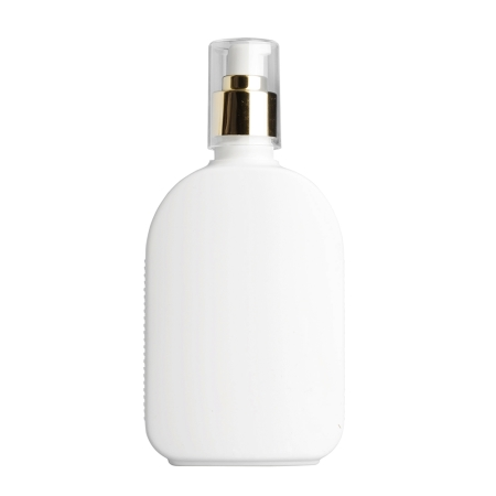 250ml White Flask & 24mm Gold Cos Lotion