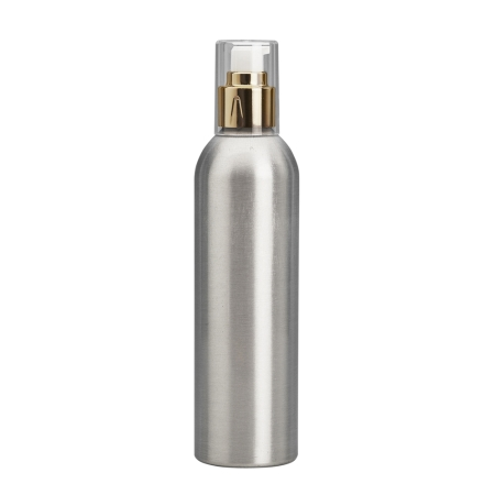 250ml Aluminium Btl & 24mm Gold Cos Lotion