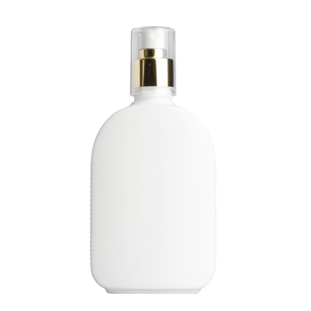 250ml White Flask & 24mm Gold/White Cos Mist