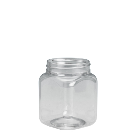 190ml Clear Nexus Square Jar Unfitted (53mm)