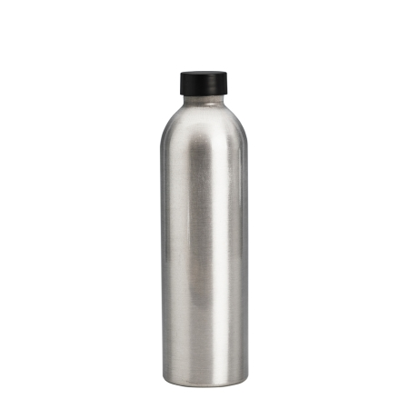 250ml Aluminium Btl & 24mm Black Wad Cap