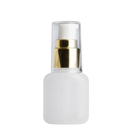 30ml Natural Flask & 20mm Gold/White Cos Lotion