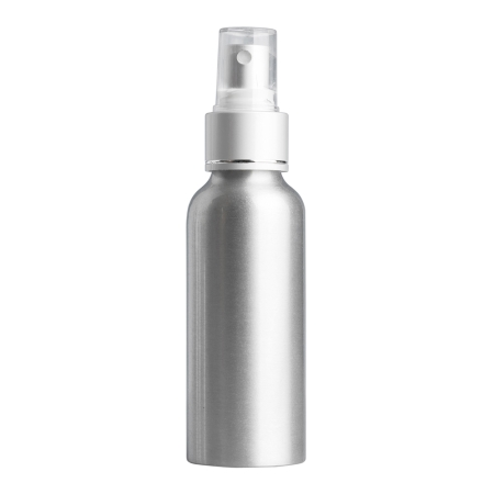 100ml Aluminium Btl & 24mm BA/White/Silver Cos Mist