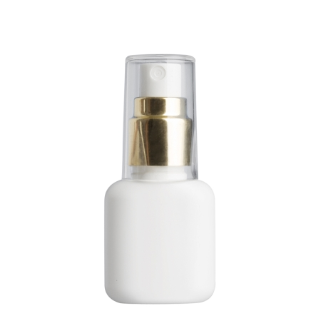 30ml White Flask & 20mm Gold/White Cos Mist