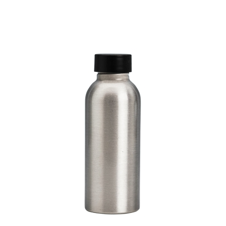 100ml Aluminium Btl & 24mm Black Wad Cap