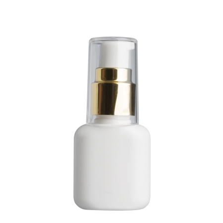 30ml White Flask & 20mm Gold/White Cos Lotion