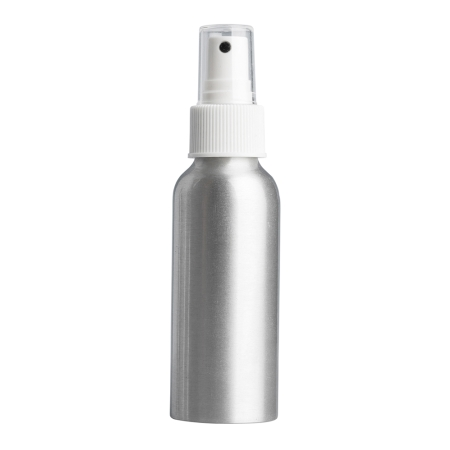 100ml Aluminium Btl & 24mm White Ribbed Mist