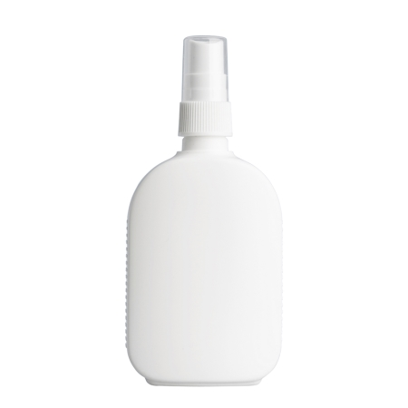 125ml White Flask & 20mm White Ribbed Mist