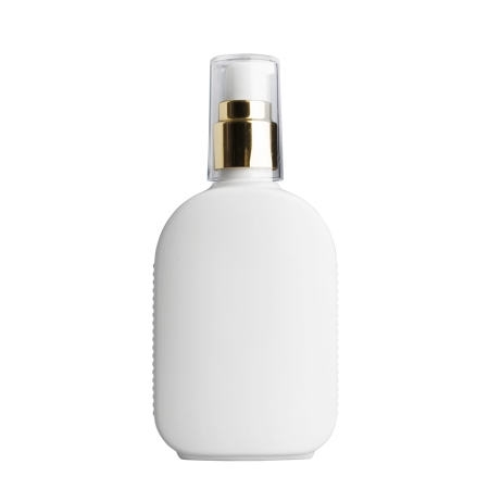 125ml White Flask & 20mm Gold/White Cos Lotion