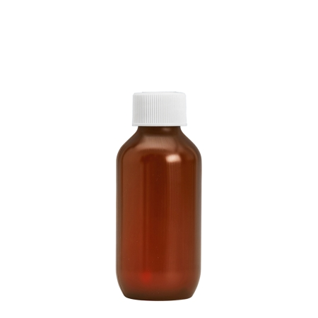 100ml Amber Prem PETG Btl & 24mm White Coneseal