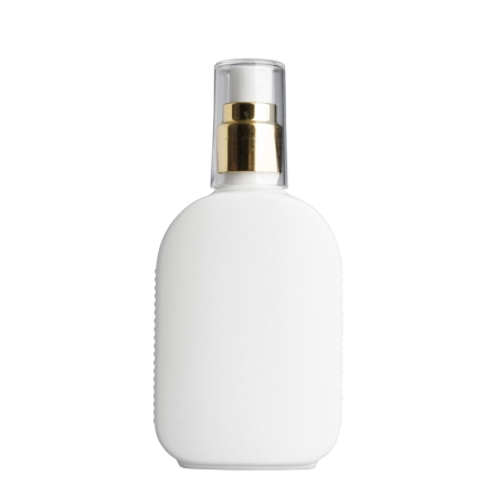 125ml White Flask & 20mm Gold/White Cos Mist