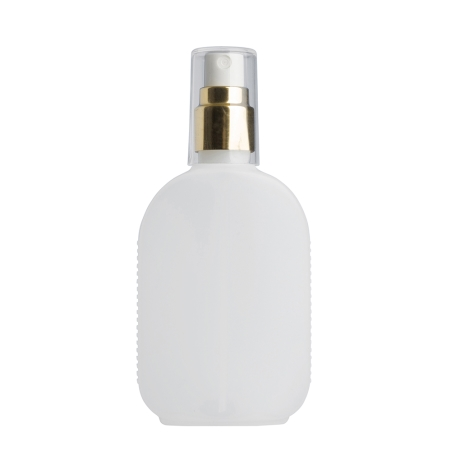 125ml Natural Flask & 20mm Gold/White Cos Mist