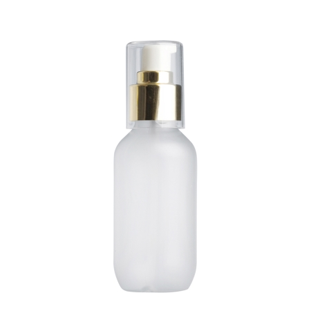 100ml Frosted Prem Btl & 24mm Gold Cos Lotion