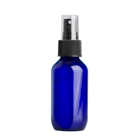 100ml Blue Prem Btl & 24mm Black Ribbed Mist
