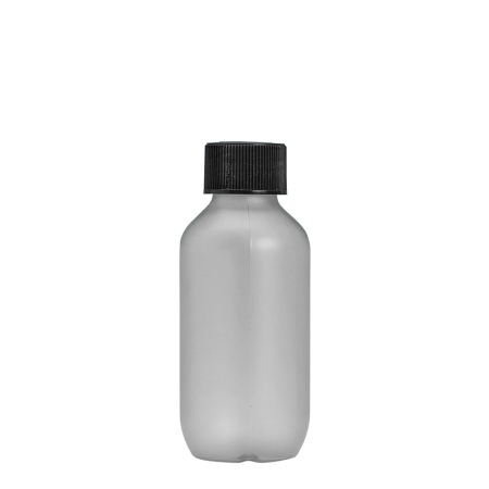 100ml Frosted Prem Btl & 24mm Black Coneseal