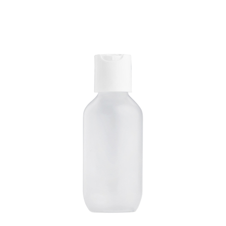100ml Frosted Prem Btl & 24mm White Short Disc Cap